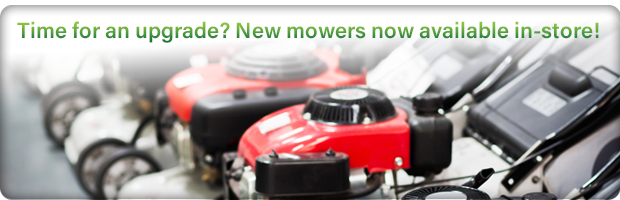 New mowers now available in-store